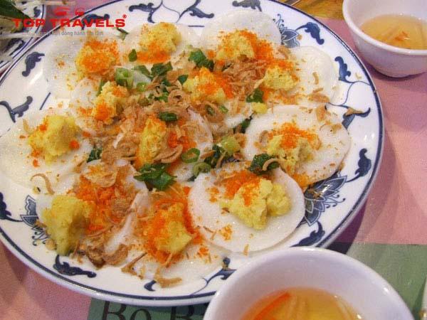 Bánh bèo -9 món ăn ngon ở đảo Bình Ba