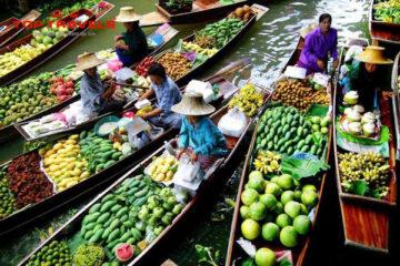 Chợ Nổi Damoen Saduk Ở Thái Lan