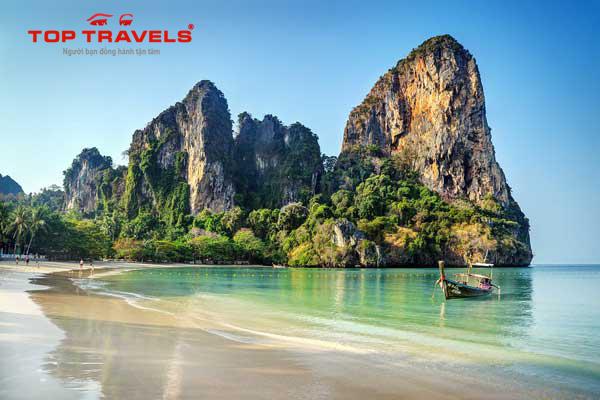 Bãi biển Railay Beach ở Thái Lan