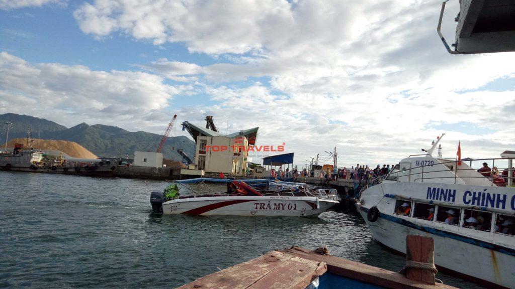 Cano Trà My đi đảo Bình Ba