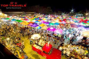 Chợ Đêm Train Market (Talad Rod Fai) Ở Bangkor