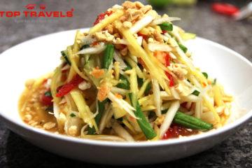 Du Lịch Thái Lan thưởng thức món gỏi đu đủ Som Tam