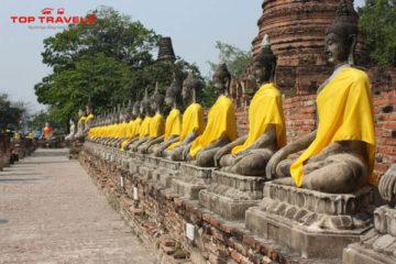 Wat Yai Chaimongkhon Ở Thái Lan