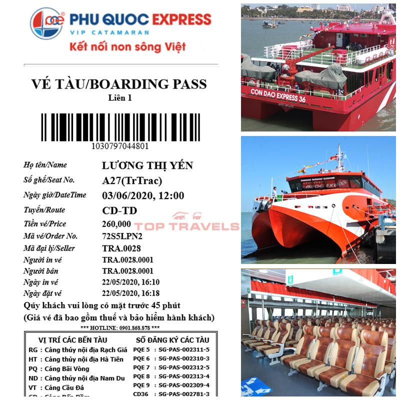 Xuất vé tàu Côn Đảo Express 5 sao