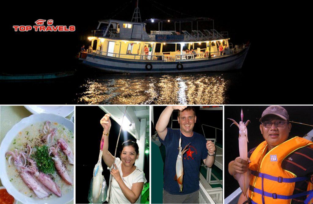 Tour câu mực đêm phú quốc