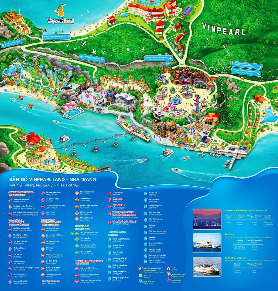 bản đồ vinpaerl land nha trang